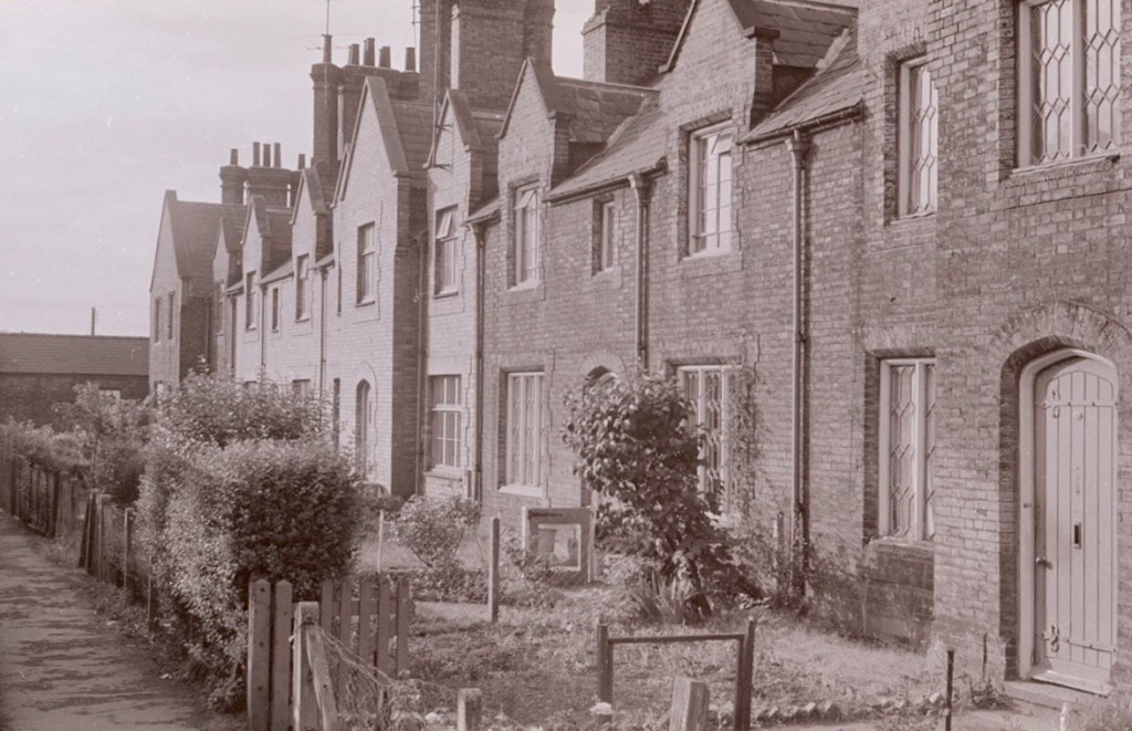 Rear view of Railway Cottages, date unknown