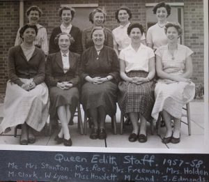 Queen Edith School Staff 1957-8
