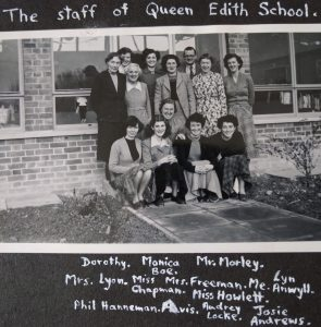 Queen Edith School Staff circa 1955