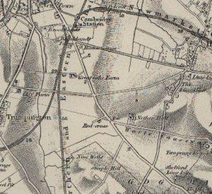 1836 map of Queen Edith's Area