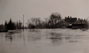 View of Millpond from Silver Street in 1947 floods